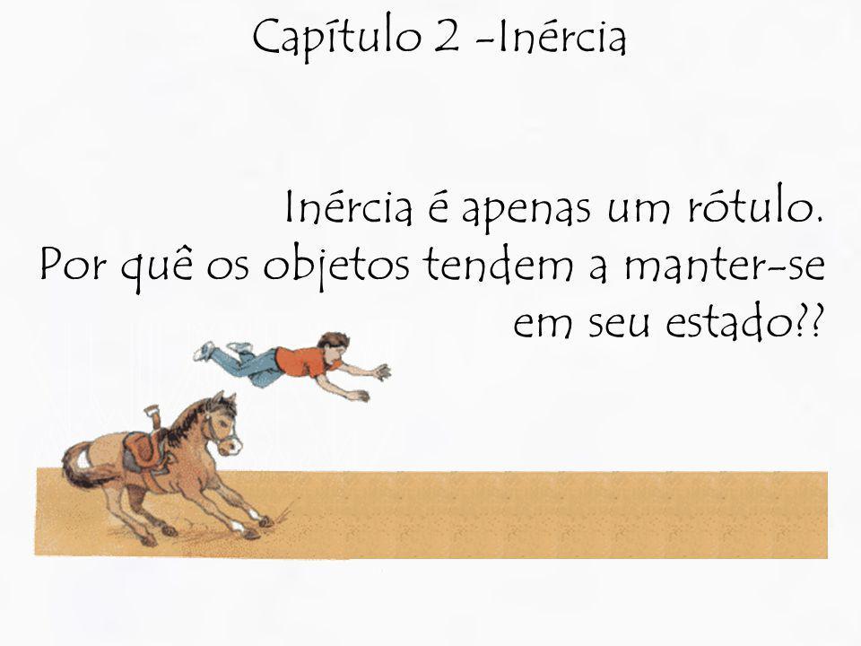 Capítulo 2 -Inércia Inércia é apenas um rótulo. Por quê os objetos tendem a manter-se em seu estado??