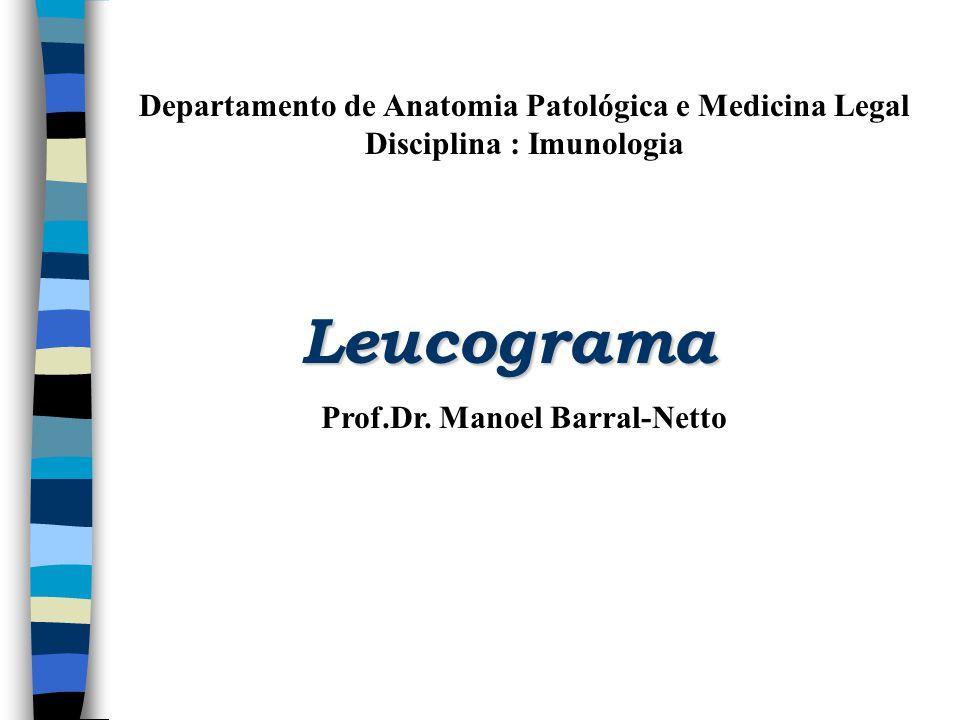 Departamento de Anatomia Patológica e Medicina Legal Disciplina : Imunologia Leucograma Prof.Dr. Manoel Barral-Netto