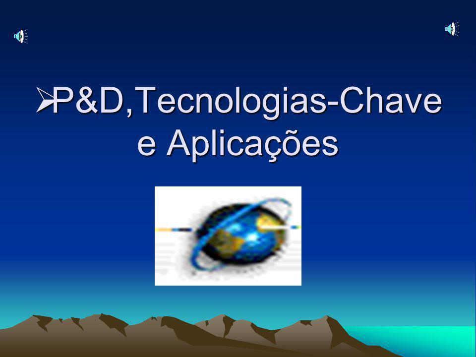 P&D,Tecnologias-Chave e Aplicações P&D,Tecnologias-Chave e Aplicações