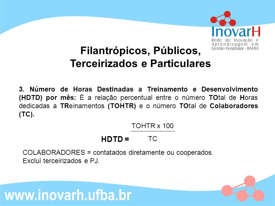 Filantrópicos e particulares 3.