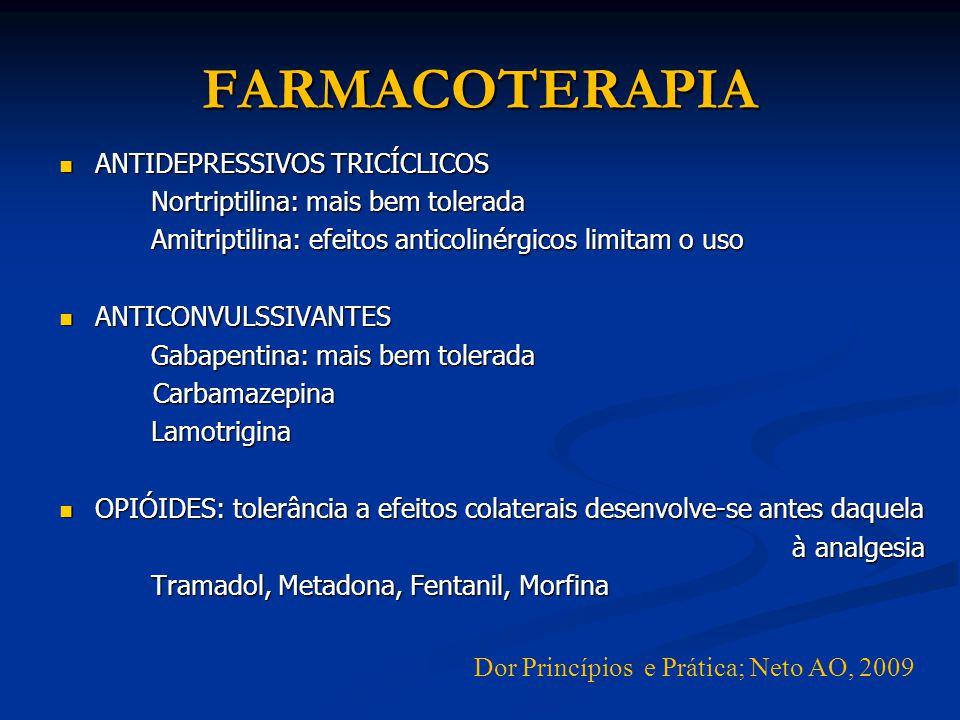 FARMACOTERAPIA ANTIDEPRESSIVOS TRICÍCLICOS ANTIDEPRESSIVOS TRICÍCLICOS Nortriptilina: mais bem tolerada Nortriptilina: mais bem tolerada Amitriptilina