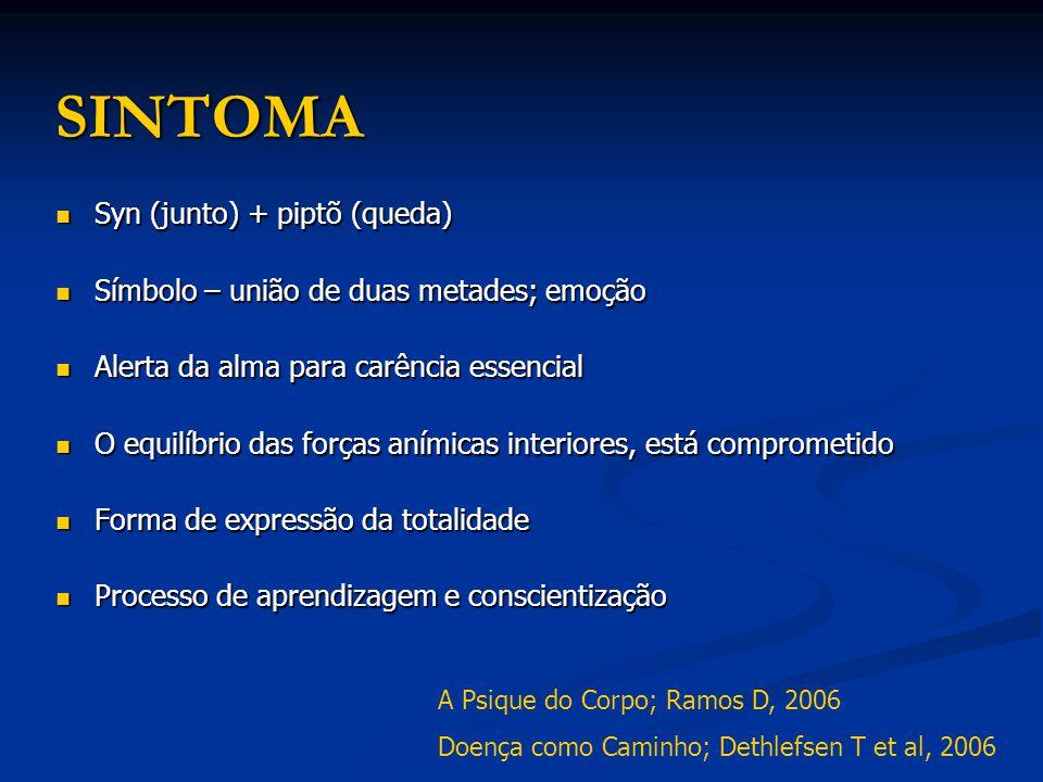 SINTOMA Syn (junto) + piptõ (queda) Syn (junto) + piptõ (queda) Símbolo – união de duas metades; emoção Símbolo – união de duas metades; emoção Alerta