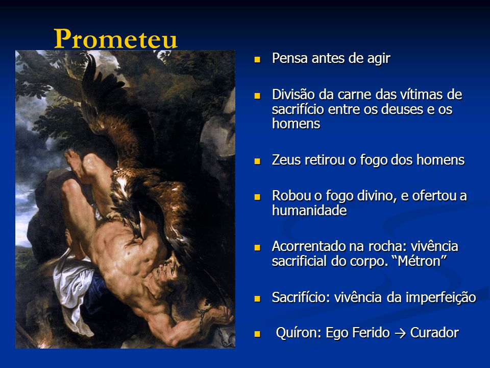 Onipotência de Prometeu Onipotência de Prometeu Impelido pelo instinto, ou seja pela marcha automática das compulsões.