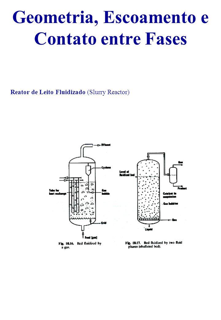 Reator de Leito Fluidizado (Slurry Reactor) Geometria, Escoamento e Contato entre Fases