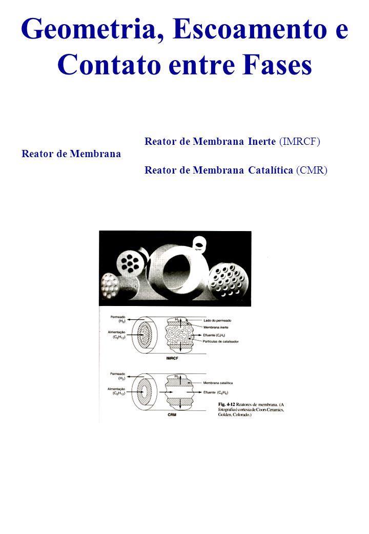 Reator de Membrana Reator de Membrana Inerte (IMRCF) Reator de Membrana Catalítica (CMR) Geometria, Escoamento e Contato entre Fases
