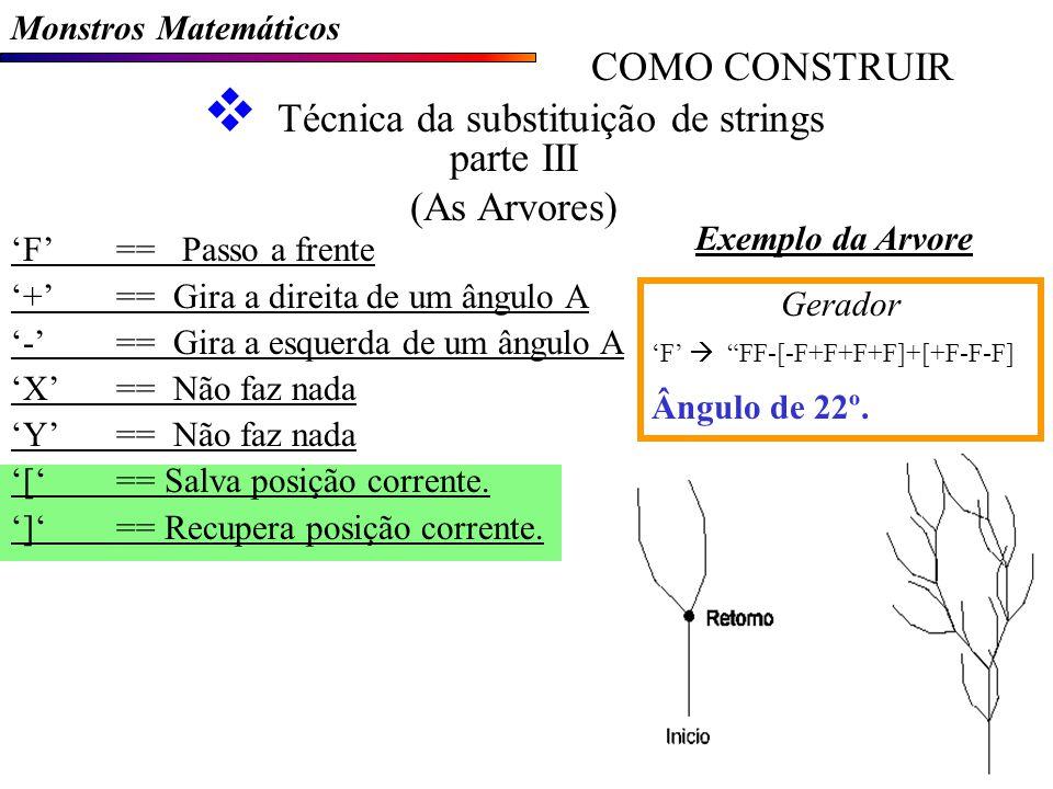 F== Passo a frente +== Gira a direita de um ângulo A -== Gira a esquerda de um ângulo A X== Não faz nada Y== Não faz nada [== Salva posição corrente.