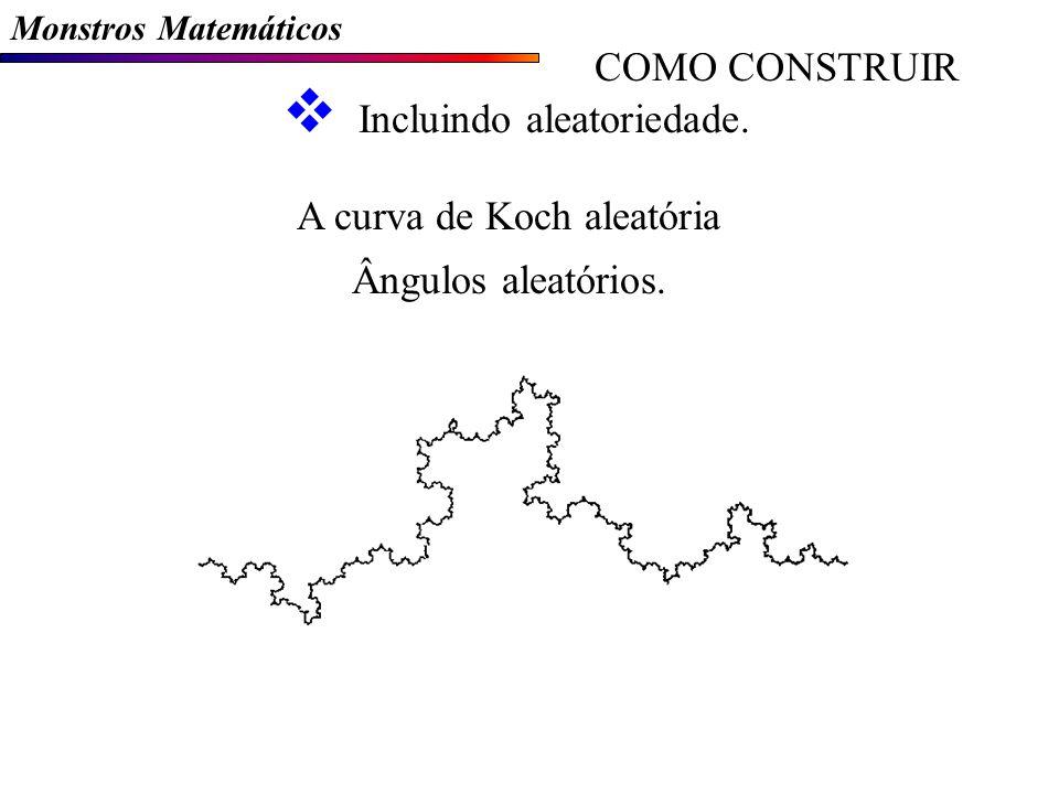 Monstros Matemáticos COMO CONSTRUIR Incluindo aleatoriedade.