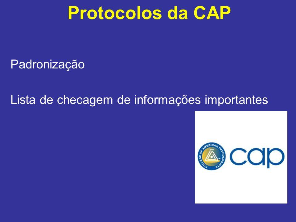 Protocolos da CAP Padronização Lista de checagem de informações importantes