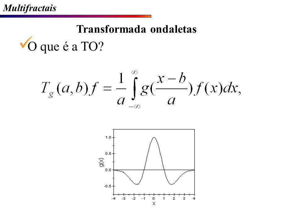Multifractais Transformada ondaletas O que é a TO?
