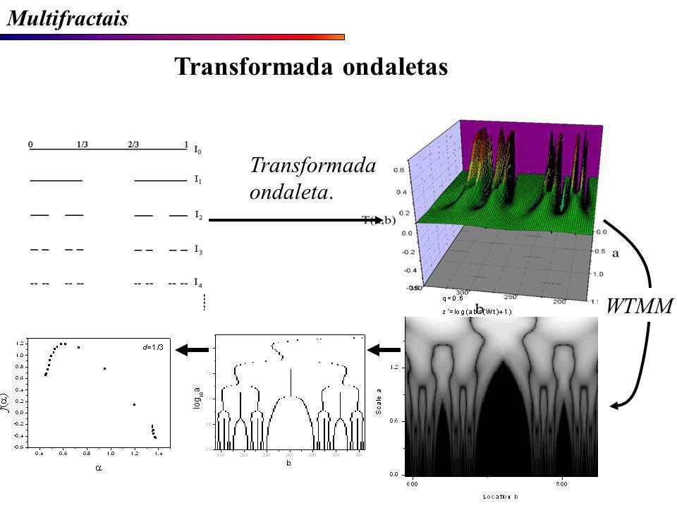 Transformada ondaleta. WTMM Multifractais Transformada ondaletas