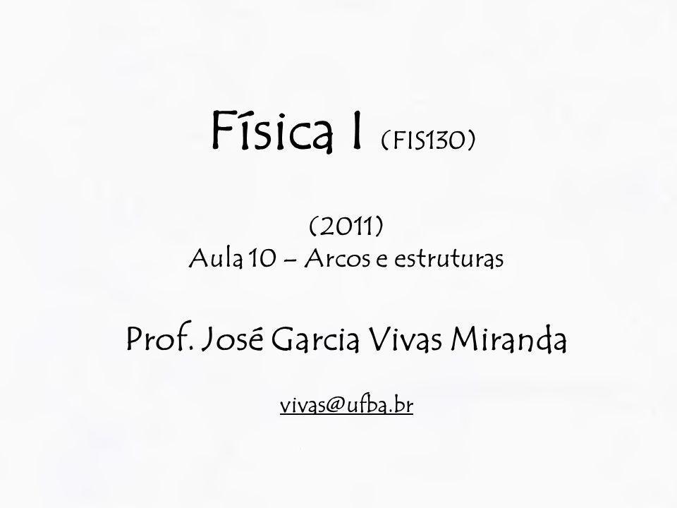 Física I (FIS130) (2011) Aula 10 – Arcos e estruturas Prof. José Garcia Vivas Miranda vivas@ufba.br