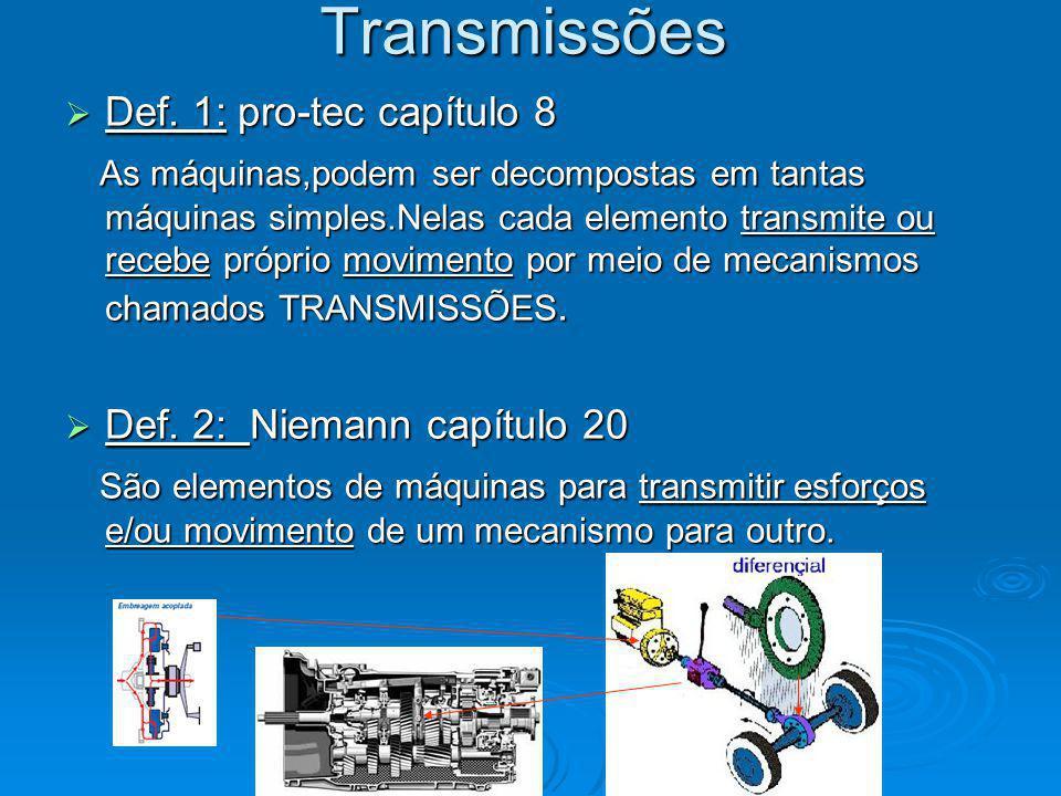 Transmissões Def.1: pro-tec capítulo 8 Def.