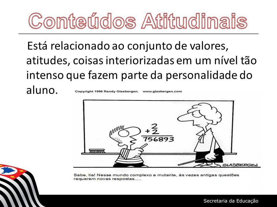 Está relacionado ao conjunto de valores, atitudes, coisas interiorizadas em um nível tão intenso que fazem parte da personalidade do aluno.