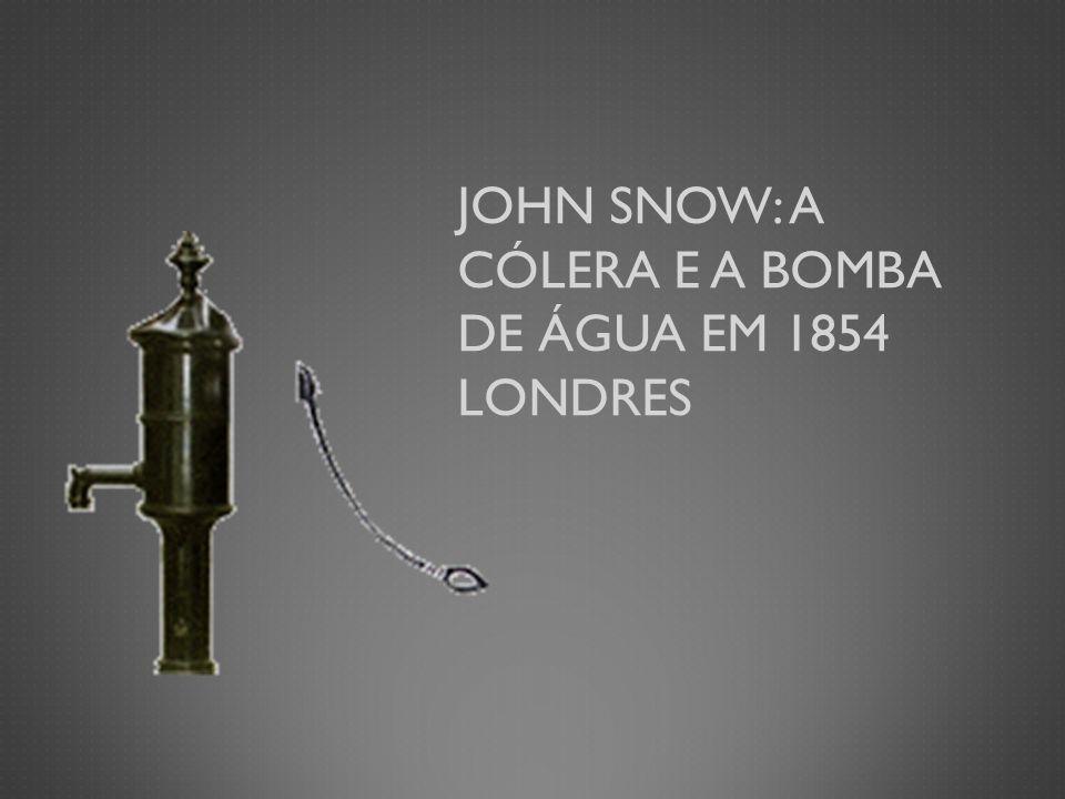 JOHN SNOW: A CÓLERA E A BOMBA DE ÁGUA EM 1854 LONDRES