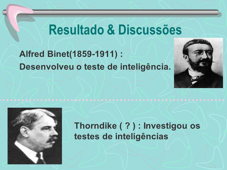 Resultado & Discussões Thorndike ( .