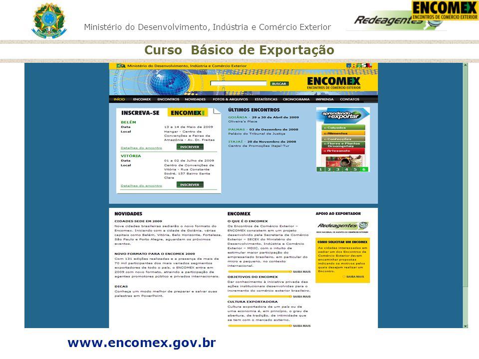 Curso Básico de Exportação www.encomex.gov.br