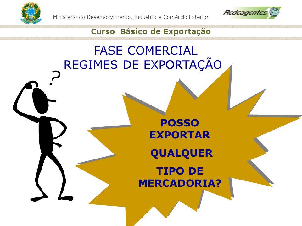 Ministério do Desenvolvimento, Indústria e Comércio Exterior Curso Básico de Exportação POSSO EXPORTAR QUALQUER TIPO DE MERCADORIA? POSSO EXPORTAR QUA