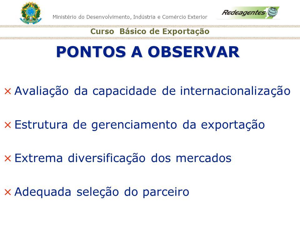 Ministério do Desenvolvimento, Indústria e Comércio Exterior Curso Básico de Exportação ×Avaliação da capacidade de internacionalização ×Estrutura de