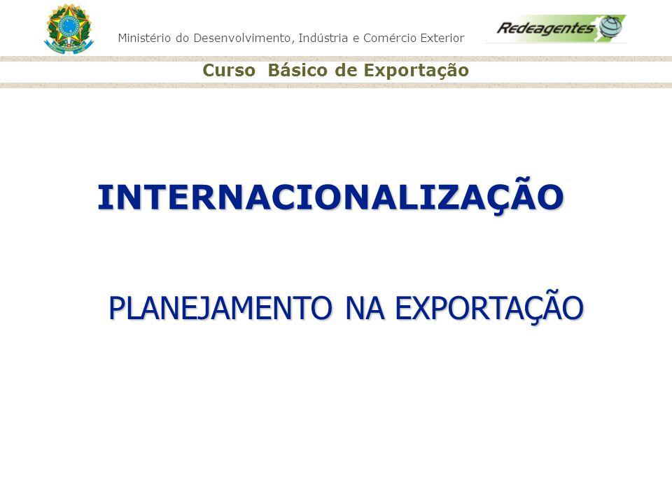 Ministério do Desenvolvimento, Indústria e Comércio Exterior Curso Básico de Exportação PLANEJAMENTO NA EXPORTAÇÃO INTERNACIONALIZAÇÃO