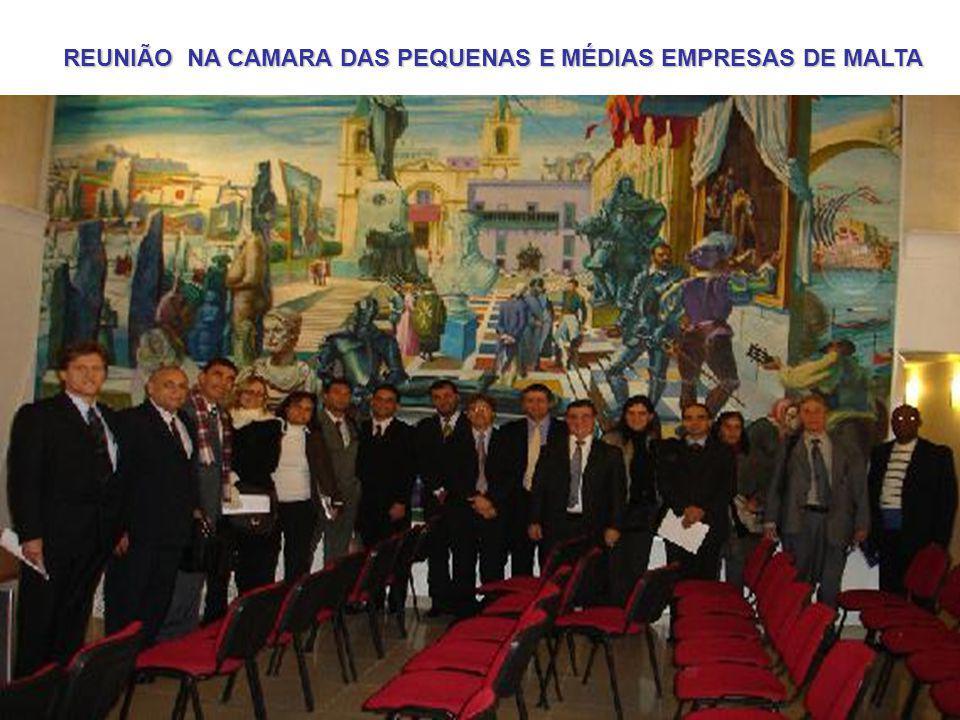 REUNIÃO NA CAMARA DAS PEQUENAS E MÉDIAS EMPRESAS DE MALTA