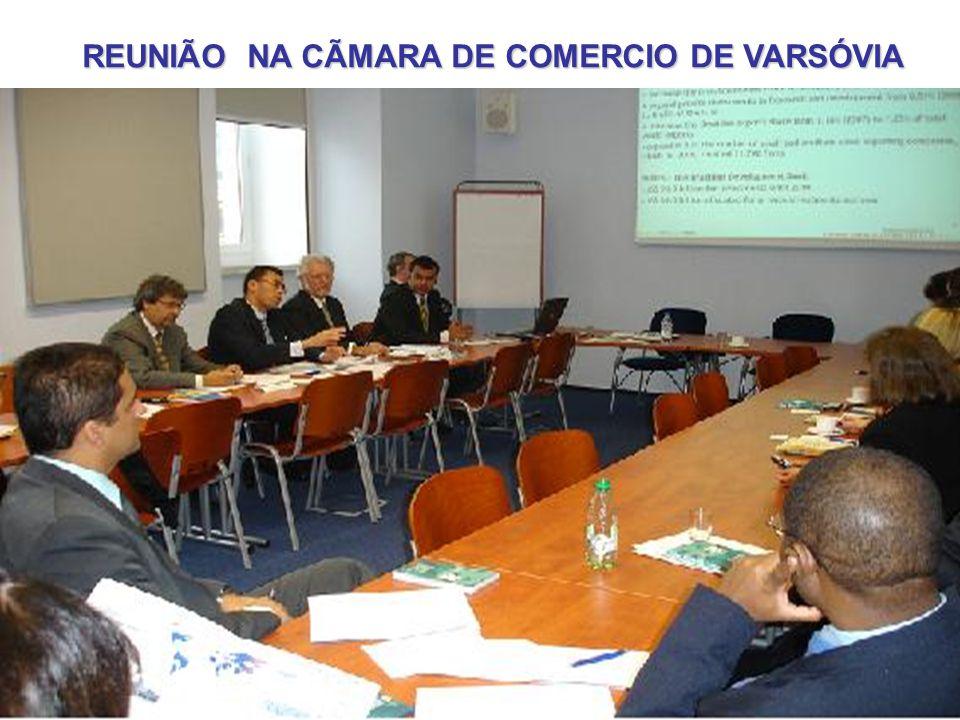 REUNIÃO NA CÃMARA DE COMERCIO DE VARSÓVIA