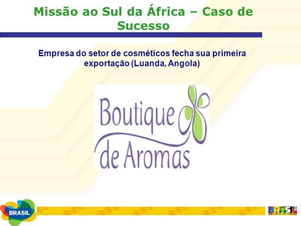 Missão ao Sul da África – Caso de Sucesso Empresa do setor de cosméticos fecha sua primeira exportação (Luanda, Angola)