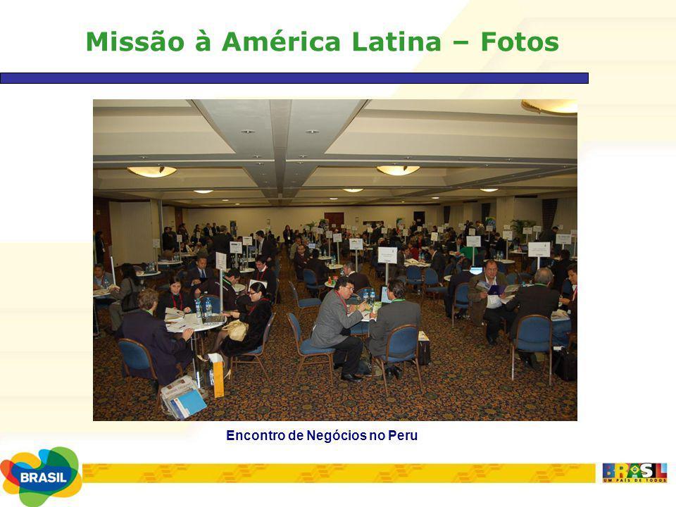 Missão à América Latina – Fotos Encontro de Negócios no Peru