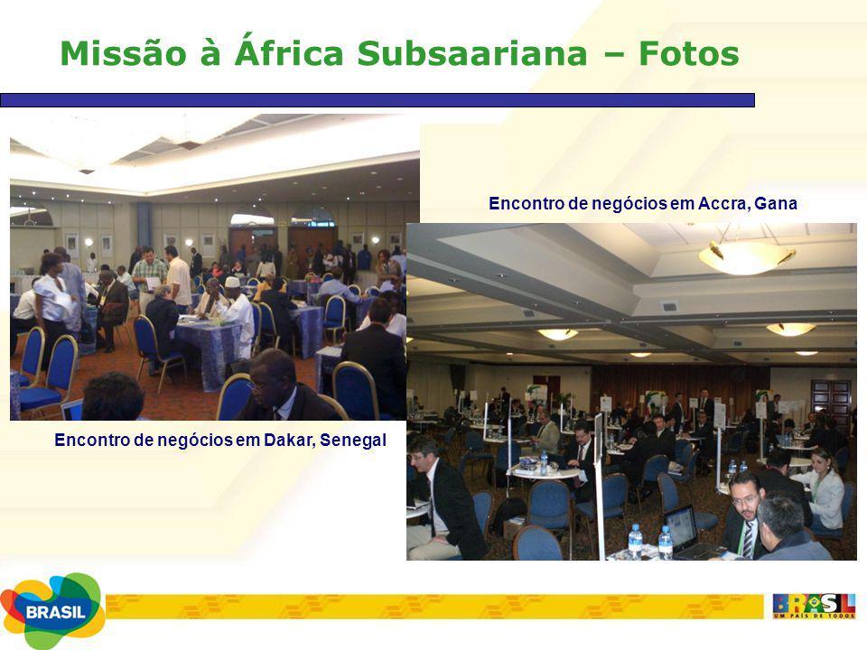 Missão à África Subsaariana – Fotos Encontro de negócios em Dakar, Senegal Encontro de negócios em Accra, Gana