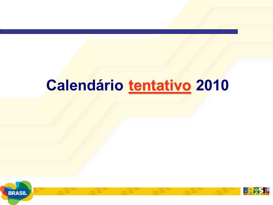 tentativo Calendário tentativo 2010