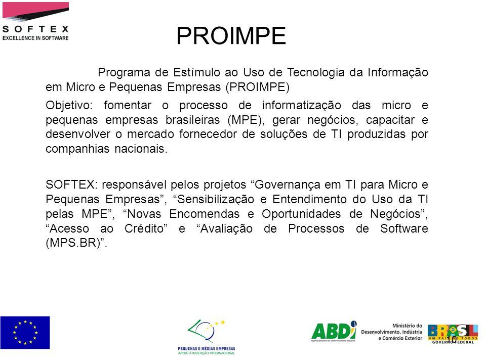 10 PROIMPE Programa de Estímulo ao Uso de Tecnologia da Informação em Micro e Pequenas Empresas (PROIMPE) Objetivo: fomentar o processo de informatiza