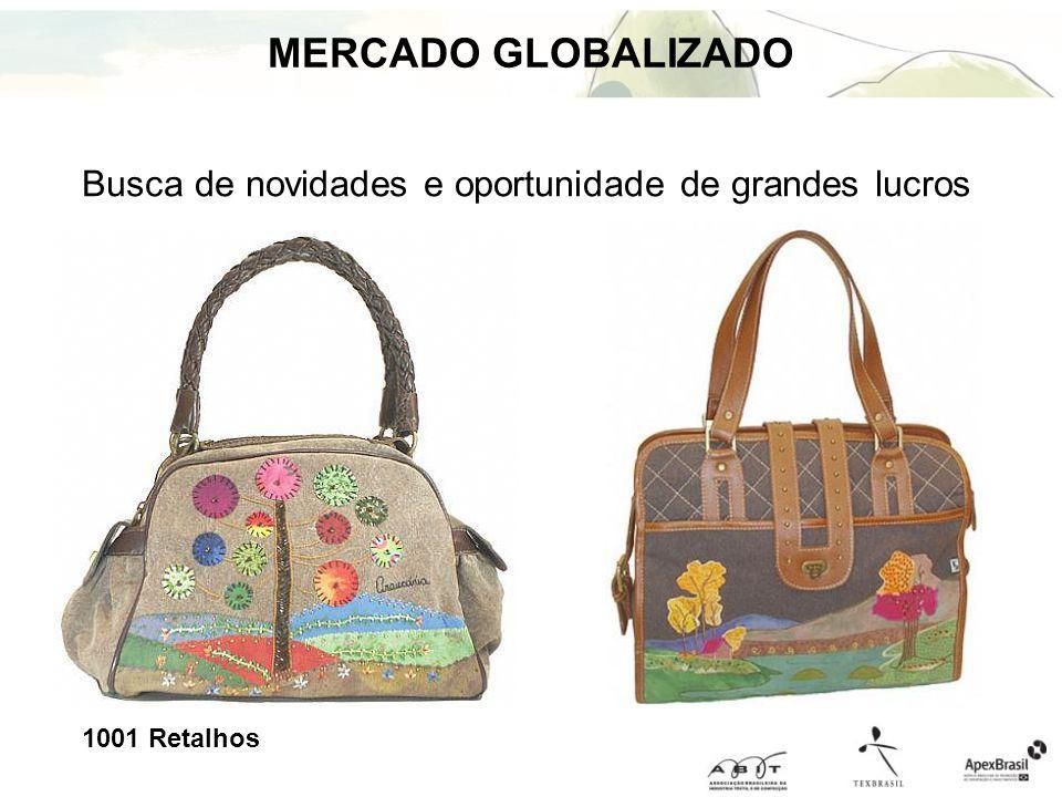 Busca de novidades e oportunidade de grandes lucros MERCADO GLOBALIZADO 1001 Retalhos