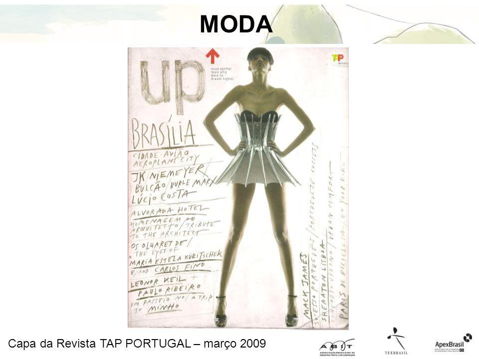 Capa da Revista TAP PORTUGAL – março 2009 MODA