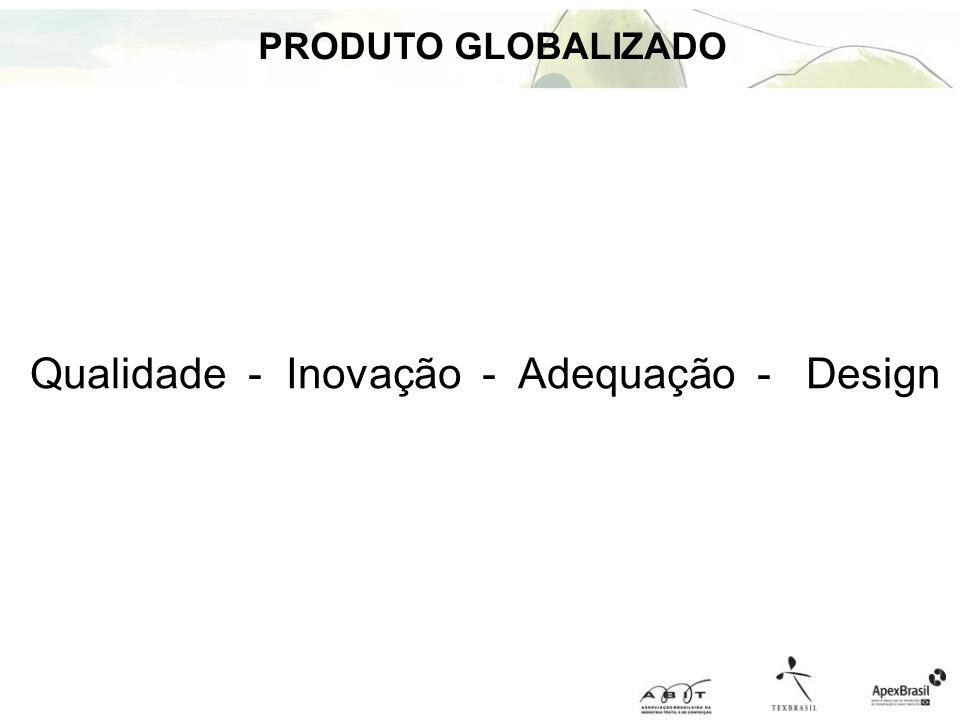 Qualidade - Inovação - Adequação - Design PRODUTO GLOBALIZADO
