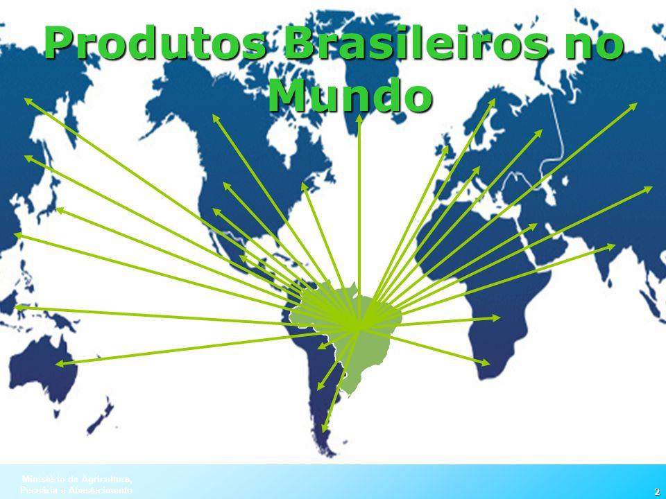 Ministério da Agricultura, Pecuária e Abastecimento 2 Produtos Brasileiros no Mundo