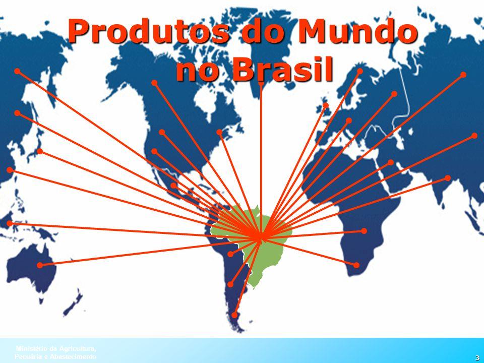 Ministério da Agricultura, Pecuária e Abastecimento 3 Produtos do Mundo no Brasil
