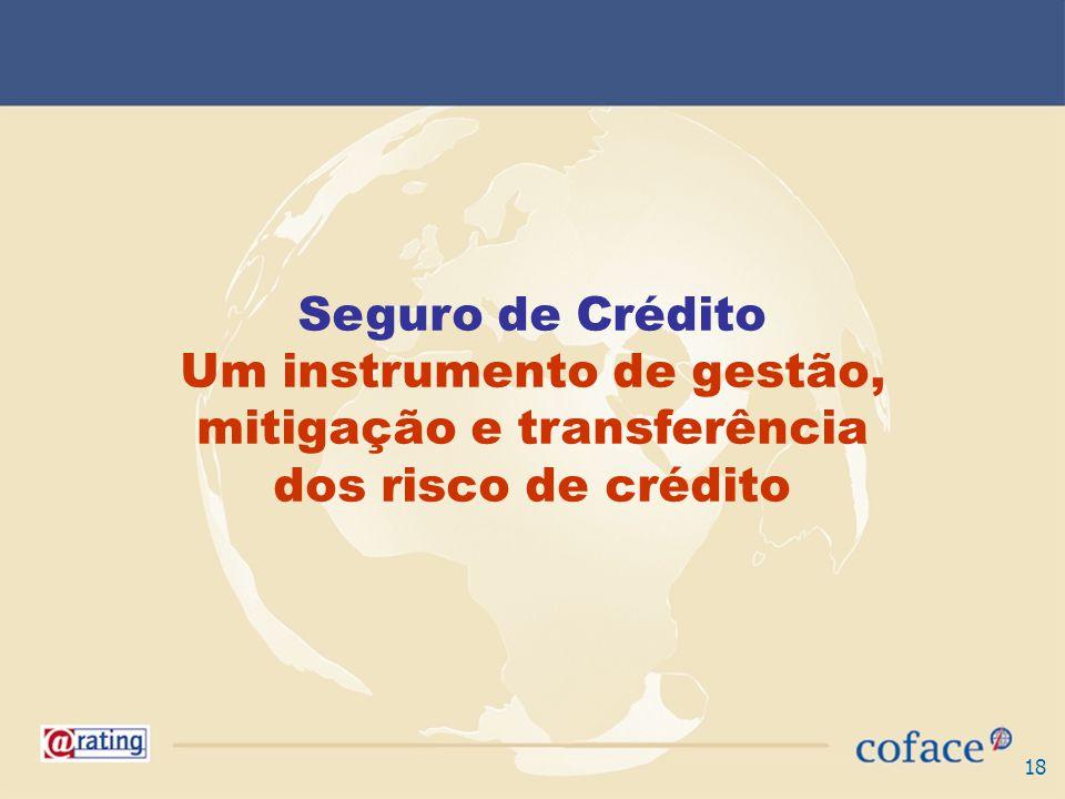 18 Seguro de Crédito Um instrumento de gestão, mitigação e transferência dos risco de crédito