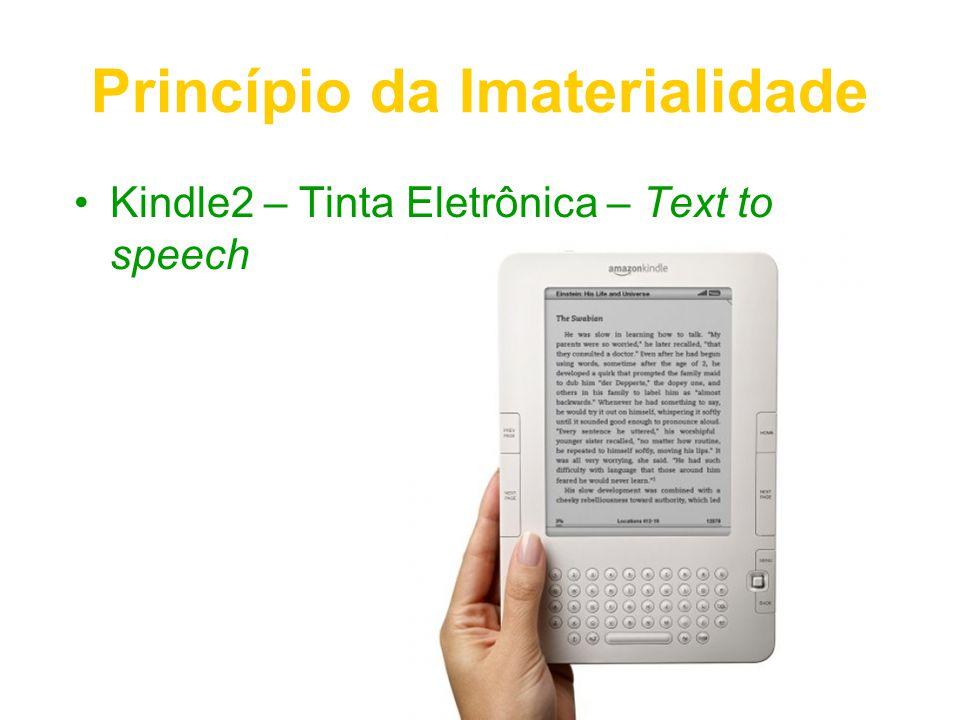 Princípio da Imaterialidade Kindle2 – Tinta Eletrônica – Text to speech