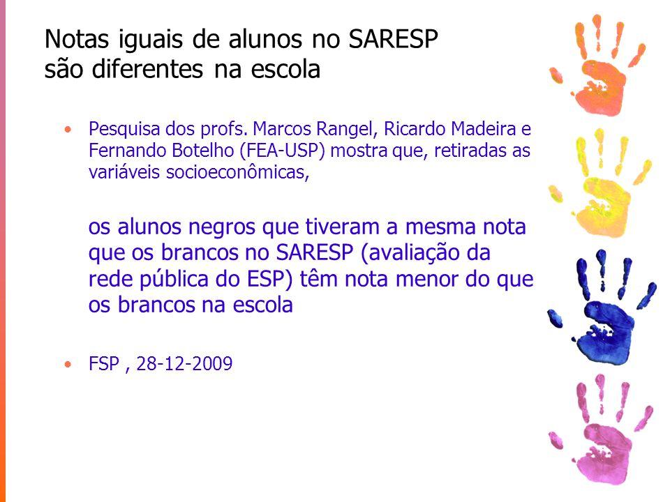 Atraso escolar em filhos de cores diferentes Edward Telles – Racismo à Brasileira