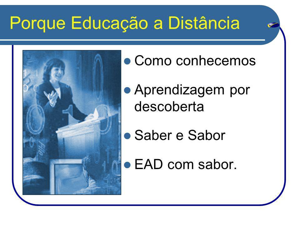 Porque Educação a Distância Como conhecemos Aprendizagem por descoberta Saber e Sabor EAD com sabor.