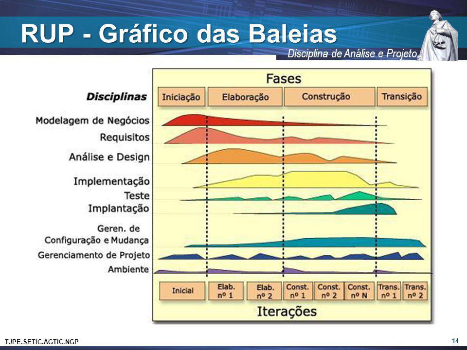 TJPE.SETIC.AGTIC.NGP Disciplina de Análise e Projeto RUP - Gráfico das Baleias 14
