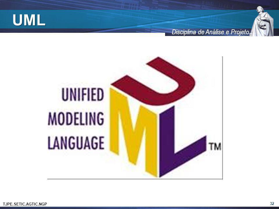 TJPE.SETIC.AGTIC.NGP Disciplina de Análise e Projeto UML 32