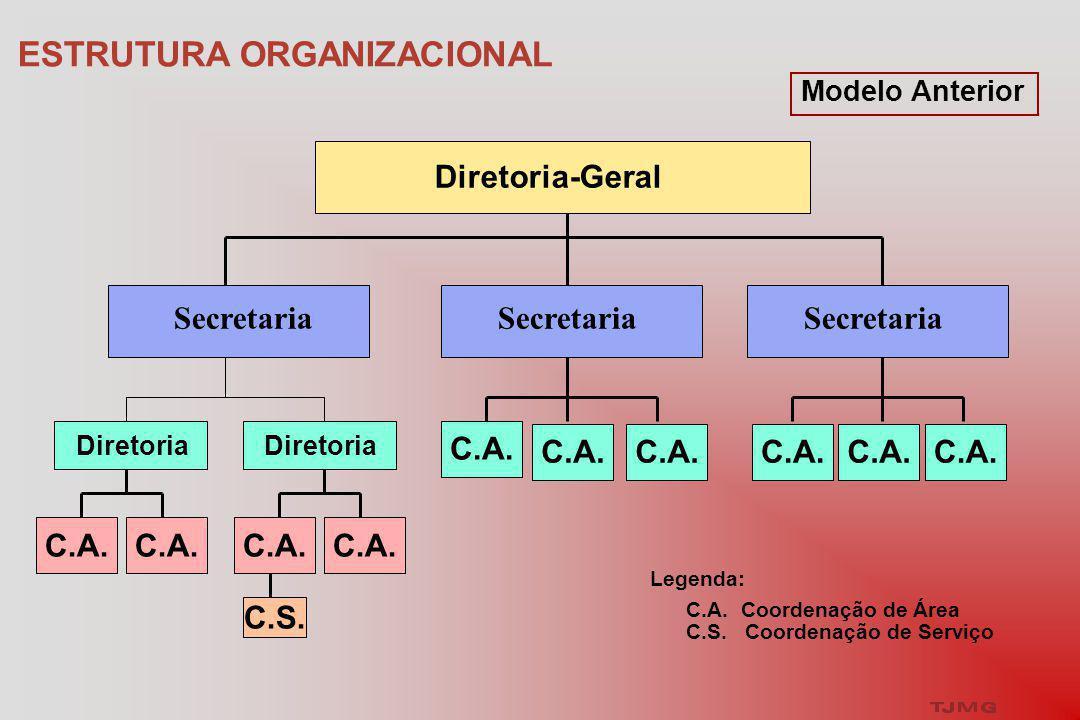 ESTRUTURA ORGANIZACIONAL Diretoria-Geral Secretaria Diretoria C.A.