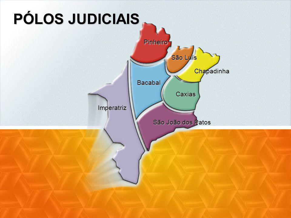 PÓLOS JUDICIAIS Pinheiro São Luís Caxias Chapadinha São João dos Patos Imperatriz Bacabal