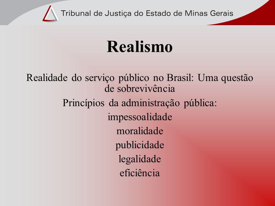 Realidade do serviço público no Brasil: Uma questão de sobrevivência Princípios da administração pública: impessoalidade moralidade publicidade legali