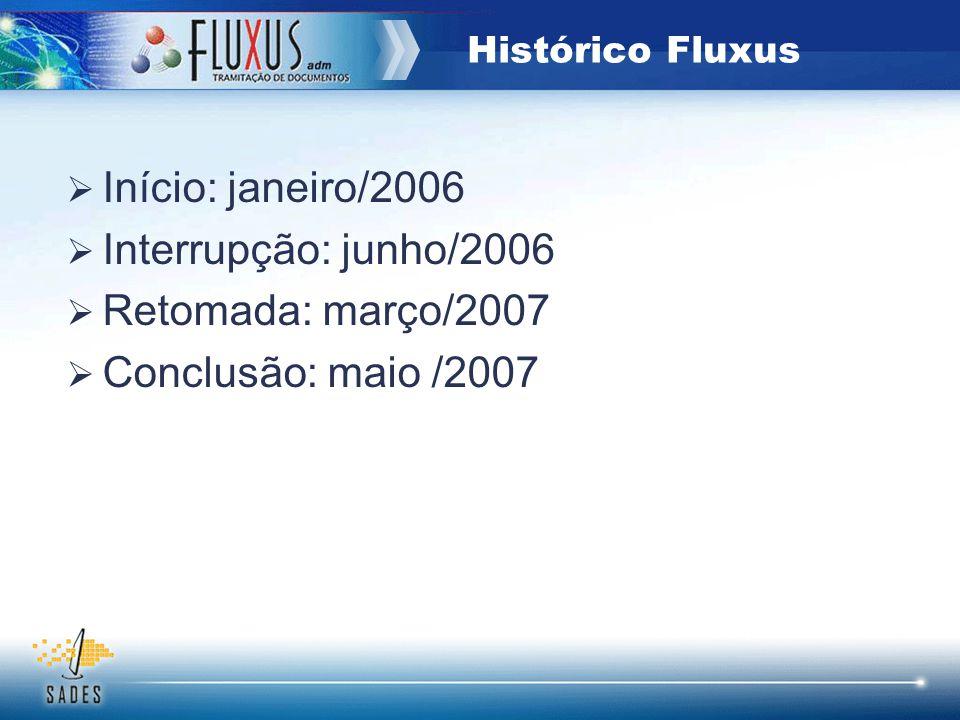 Início: janeiro/2006 Interrupção: junho/2006 Retomada: março/2007 Conclusão: maio /2007 Histórico Fluxus