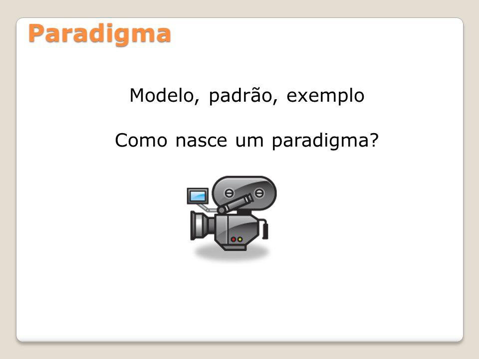 Paradigma Modelo, padrão, exemplo Como nasce um paradigma?