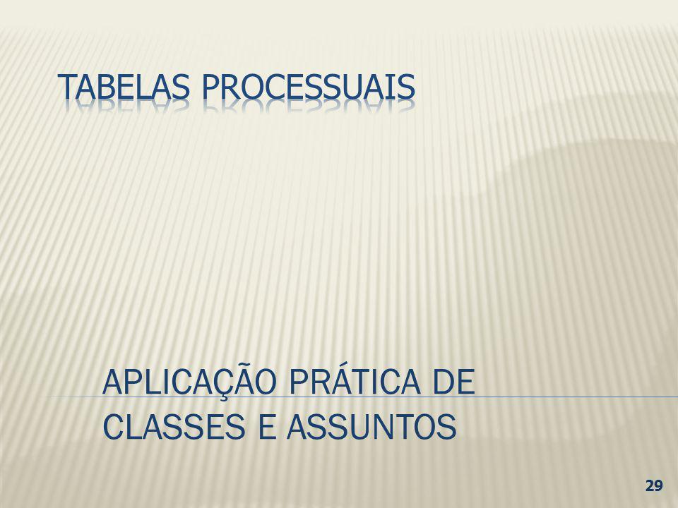 APLICAÇÃO PRÁTICA DE CLASSES E ASSUNTOS 29