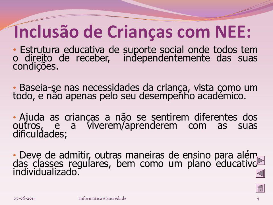 07-06-2014Informática e Sociedade25 Factores Etiológicos das Dificuldades de Aprendizagem: