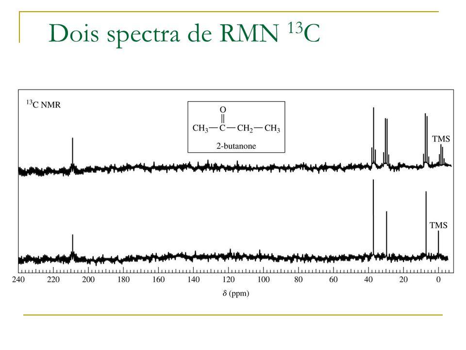 Dois spectra de RMN 13 C