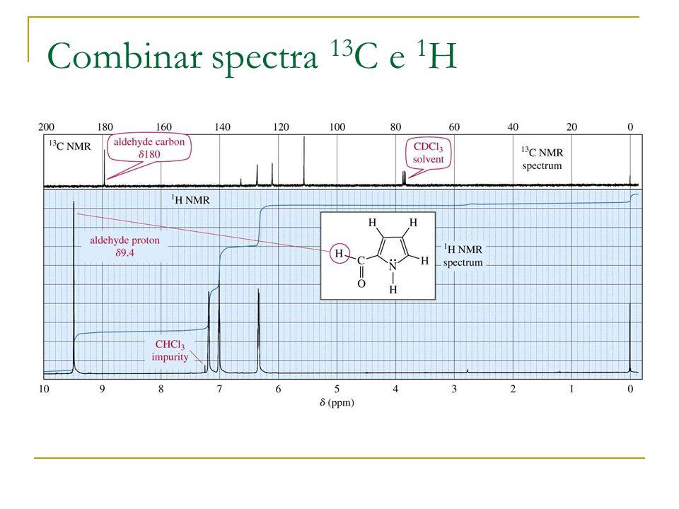 Combinar spectra 13 C e 1 H